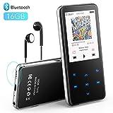 AGPTEK 16Go Haut-Parleur MP3 Bluetooth 4.1 en Métal, 2,4 Pouces Écran Miroir Lecteur Musical avec...