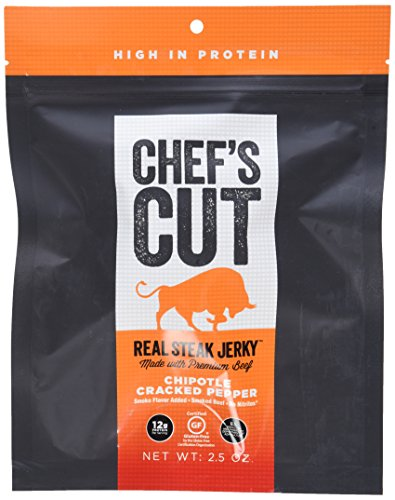 Chef's Cut Real Steak Jerky Chipotle Cracked Pepper, 2.5 Ounce, 8 Count