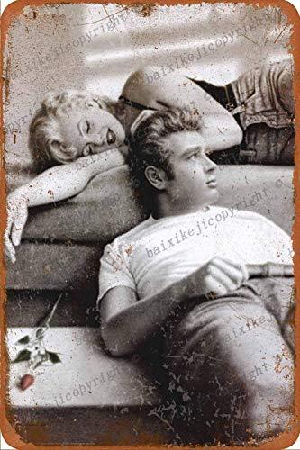 Marilyn Monroe and James Dean poster Carteles de chapa vintage Cartel de chapa Retro Letrero de metal Placa Arte...