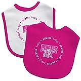 Baby Fanatic Pittsburgh Pirates Girls Pink 2-Pack Baby Bibs MLB Newborn Gift Set