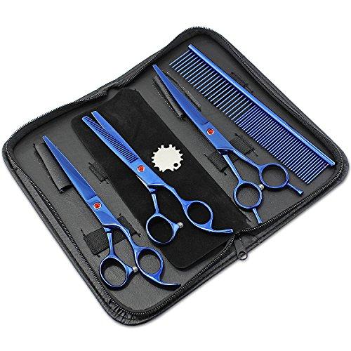 Aussel Pet Curved Scissor Set- perfekt für Hundesalon, Durable Edelstahl, bereitgestellt mit Beutel, komfortabel, funktional und sehr Ergonomische