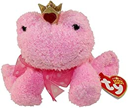 Ty Beanie Babies Kissable - Pink Frog with Crown Beanie Baby