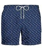 ZEYBRA Costume da Bagno Uomo Nuoto Blu 100% Poliestere Made in Italy (48)