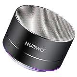 Altavoz Bluetooth, NUBWO A2 Mini Altavoz Portátil de Viaje Bluetooth al Aire Libre, Altavoz Inalámbrico con Bass Grave y Llamadas Manos Libres, Funciona con iPhone, iPad, Samsung, Portátiles –Negro