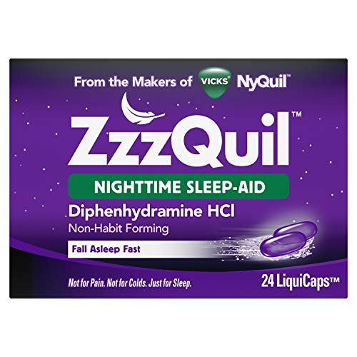 Vicks ZzzQuil Nighttime Sleep Aid, Non-Habit Forming, Fall Asleep Fast and Wake Refreshed, 24 Count LiquiCaps