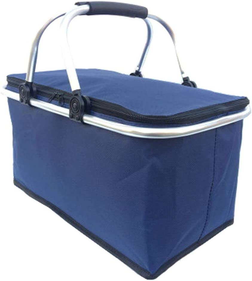 Black Temptation D Popular overseas Bombing new work Collapsible Picnic Insulated Basket