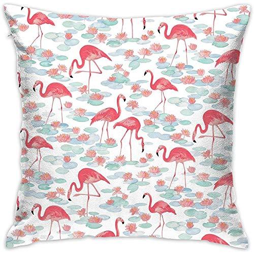Kussensloop Tropical Jungle Pink Flamingo kussenslopen kussenslopen voor bank slaapkamer auto stoel