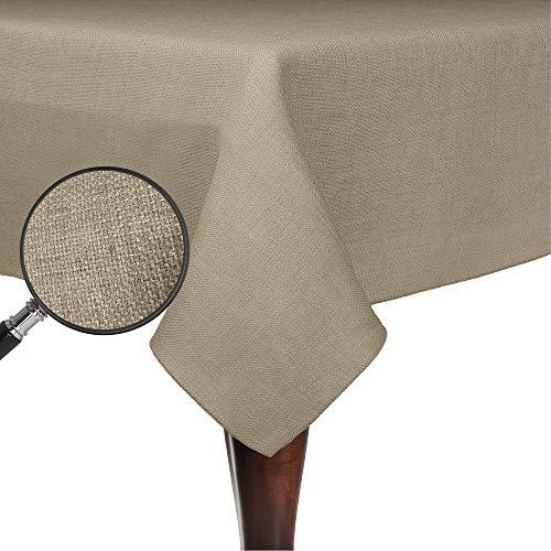 Ultimate Textile Faux Burlap - Havana 60 x 120-Inch Rectangular Tablecloth - Basket Weave, Natural