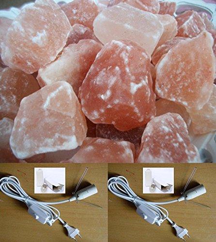 5kg Salz A Stück ca. 4–7cm mit 2Seilen vollständige und Leuchtmittel
