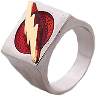 The Flash Superhero Ring Size 8 red Barry Allen Costume Accessory Justice League