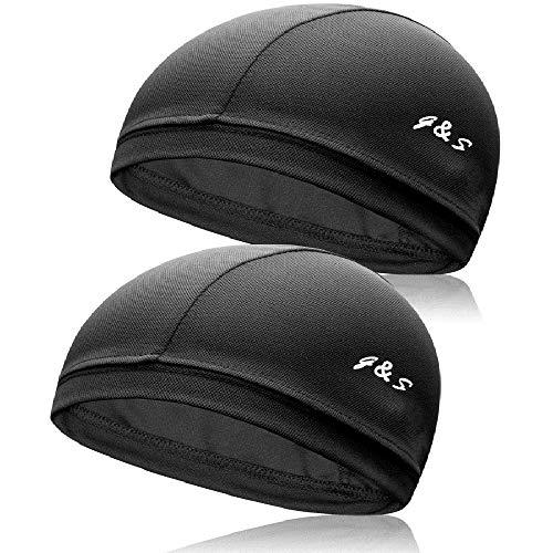 G&S インナーキャップ ヘルメット クールマックス COOLMAX インナー ビーニー 吸汗 速乾 消臭 抗菌 フリーサイズ 黒 (2枚セット)