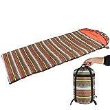 Xb Saco de Dormir para Acampar, Resistente al Agua con Bolsa, 0-15 ℃, para Viajes, Camping, Senderismo, 217x85cm