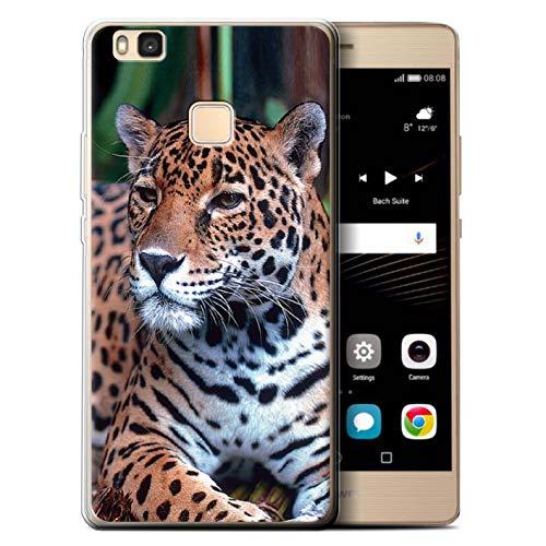 eSwish Custodia/Cover/Caso/Cassa Gel/TPU/Prottetiva Stampata con Il Disegno Grandi Felini Selvatici per Huawei P9 Lite (2016) - Giaguaro Sudamericano