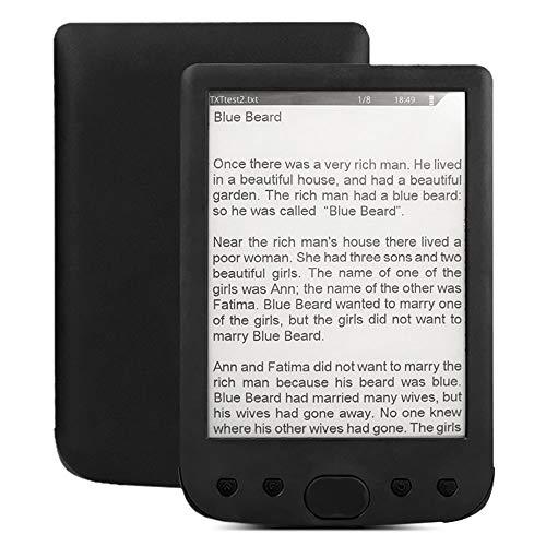POWERFULM E-Book Reader, 6 Pollici 800X600 Lettore di Libri elettronici HD E Libro Card Reader E-Ink Facile da Leggere 8GB Slot Massimo Sostegno 64GB Scheda,4gb