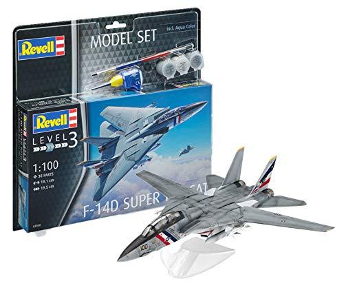 Revell Model Set- Model Set F-14 D Super Tomcat Model Set, 63950