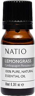 Natio Pure Essential Oil, Lemongrass, 10ml