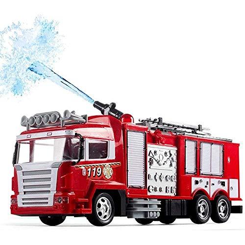 FYRMMD Camión de Bomberos de Rescate R/C Camión de Bomberos con Control Remoto con Luces y Disparos de Agua One-But (Coche de Control Remoto)