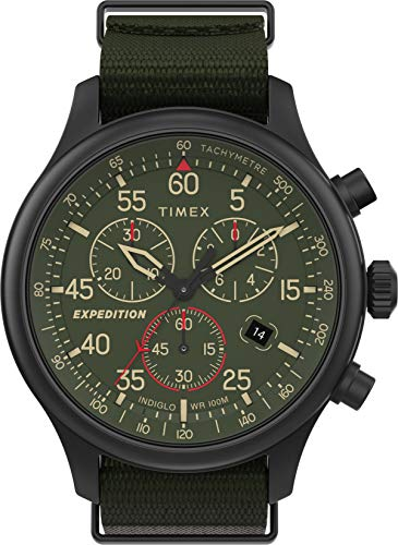 Timex Orologio Expedition Field Chronograph 43 mm, Quarzo, Uomo, TW2T72800