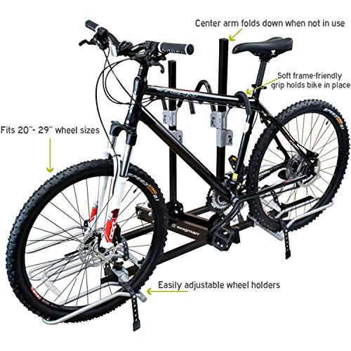 """Swagman XTC4 Bike Rack - 2"""" Receiver - 4 Bicycles Carrier - Foldable Arm for Easy Access- Rear Car Bike Rack Hitch - Includes Fat Bike Tire Trays"""