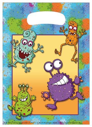 Döll 10-teiliges Partytüten-Set * Monster * für Kindergeburtstag // Kinder Geburtstag Party Karten Alien Glibber Tüten Partytüten Geschenktüten Mitgebsel