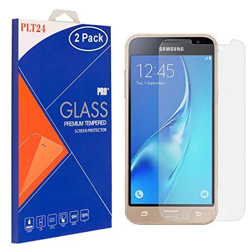 2X plt24 Panzer Schutzfolie Schutzglas Glas 9H Hartglas Glass Glasfolie Schutzglas Bildschirm Folie Sicherheitsglas kompatibel mit Samsung J5 2016 / J510 - PASST Nicht FÜR J5 2015 -