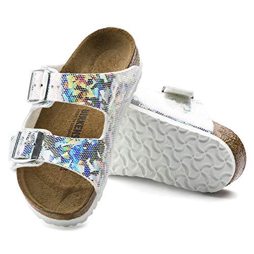 Birkenstock Arizona Birko-Flo Hologram Silver Birko-flor Sandals - 31 Narrow EU