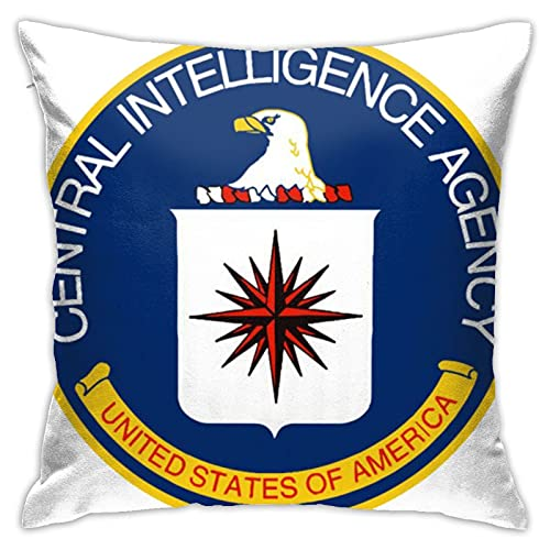 Funda de almohada Cia Central Intelligence Agency - Funda de almohada decorativa para decoración del hogar, cuadrada, 45,7 x 45,7 cm