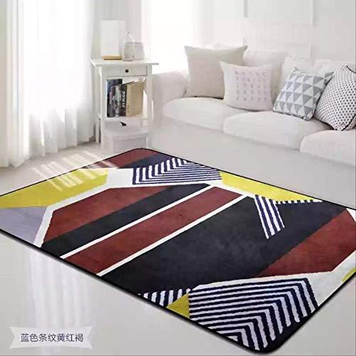 RSZHHL tapijt Kleurrijke Gesplitste Tapijten voor Parlor Zachte Flanellen Woonkamer Ruimte Tapijt Moderne Aubusson Geometrische Ontwerp Tapijten en Tapijten Slaapkamer