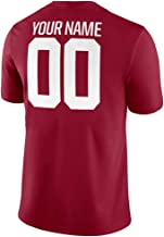 Custom College Football Jersey Embroidered Name Number Red Shirt for Men Alabama