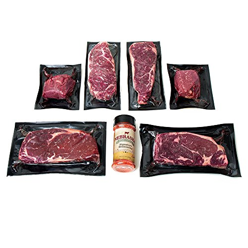 Aged Premium Angus Ribeye and NY Strip and Filet Mignon by Nebraska Star Beef – All Natural Hand Cut and Trimmed Steaks Gift Packages – Gourmet Steak Delivered to Your Home