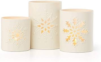 Lenox Snowflake 3-Piece Votive Set, 2.90 LB, Multi