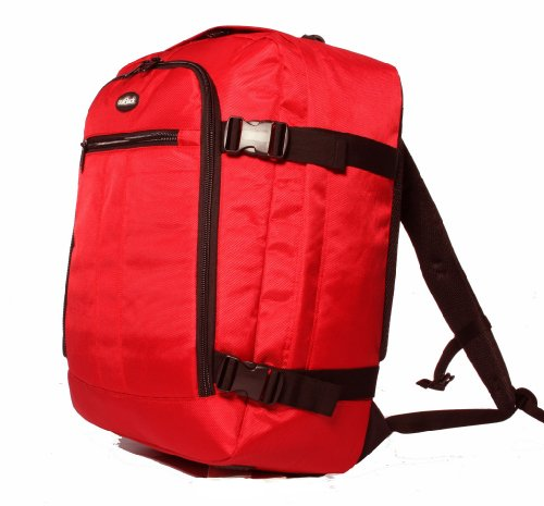 High Quality 44L Cabin Approved Backpack Cabin Flight Bag Holdall Case Rucksack Ryanair Hand Luggage with Packing Straps ***BLACK*RED*PURPLE*** Size: 55x40x20 cm*** Rosso rosso