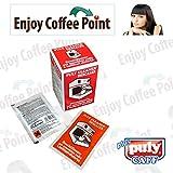 Enjoy Coffee 10 bolsitas de descalcificador en polvo para limpieza de cal de cafeteras expreso, monodosis y cápsulas de café.