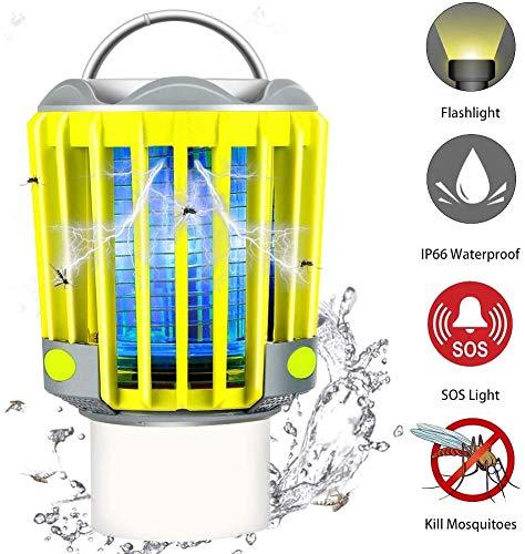 RUNACC Campinglampe LED Mückenlampe Laterne Moskitolampe Outdoor Wasserdicht IP66 mit 2200mAh Akku, Bug Zapper Mosquito Killer Taschelampe Insektenfänger Insektenvernichter