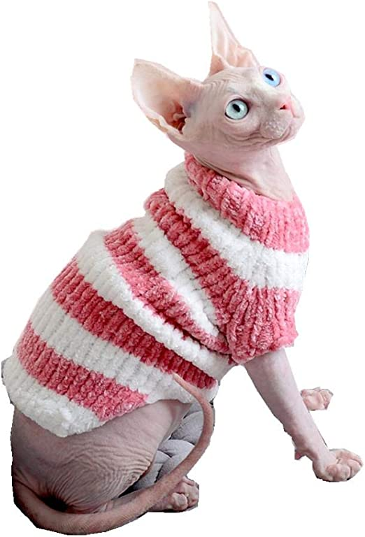 HCYD Suéter Rosa Ropa de Gato Gato esfinge Ropa de Perro pequeño, M, Rosa