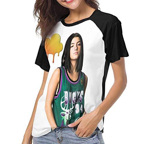 c-Harli d-a-melio Camiseta Deportiva de Manga Corta de béisbol para Mujer