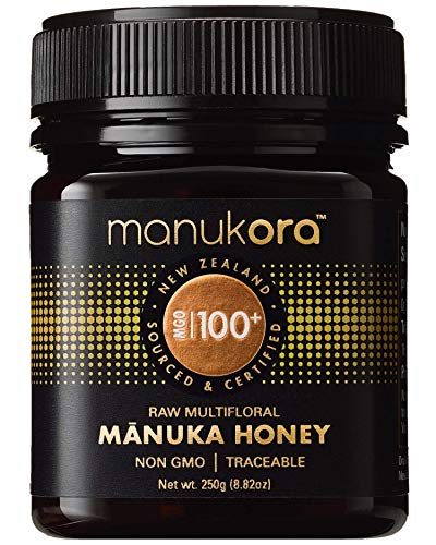 Manukora MGO 100+ Multifloral Raw Mānuka Honey (250g/8.8oz) - Authentic Non-GMO New Zealand Honey, UMF & MGO Certified, Traceable from Hive to Hand