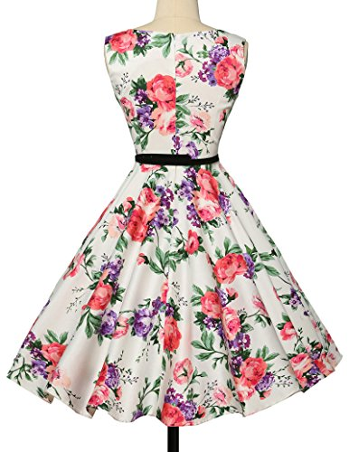 50er jahre kleid abschlussballkleid baumwolle faltenrock sommerkleid petticoat kleid Größe L CL6086-21 - 2