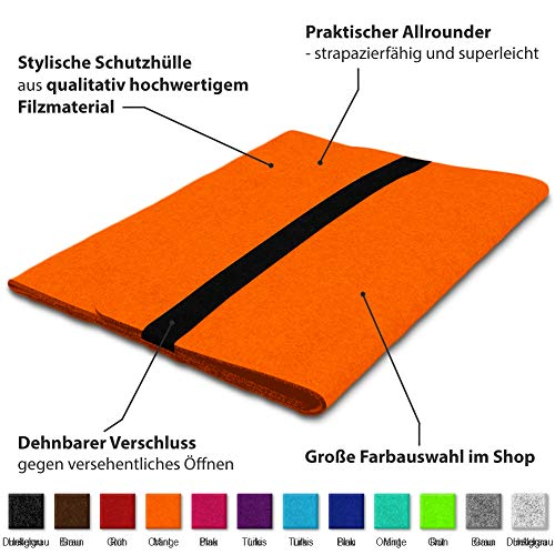 NAUC Laptop Tasche Hülle kompatibel für Lenovo ThinkPad T14 T14i T14s Filz Sleeve Schutzhülle Notebook Case 14 Zoll Cover Schutz, Farbe:Orange