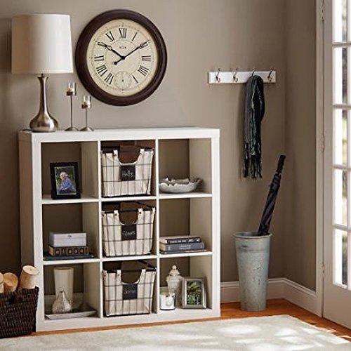Better Homes and Gardens 9-Cube Organizer Storage Bookcase Bookshelf (White) (White)