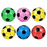 TOYANDONA 6Pcs Ballons de Football Gonflables Jouets de Ballon de Football Balles de Sport Amusantes Légères Balles de Jeu pour La Famille des Enfants (Couleur Mélangée)