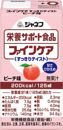ジャネフ 栄養サポート食品 ファインケア すっきりテイスト ピーチ味 125ml紙パック×12本入
