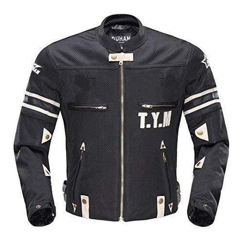 Veste de Moto Motocross Costumes Veste Pantalon Moto Veste de Protection Armure De Protection Moto Vêtements Black M