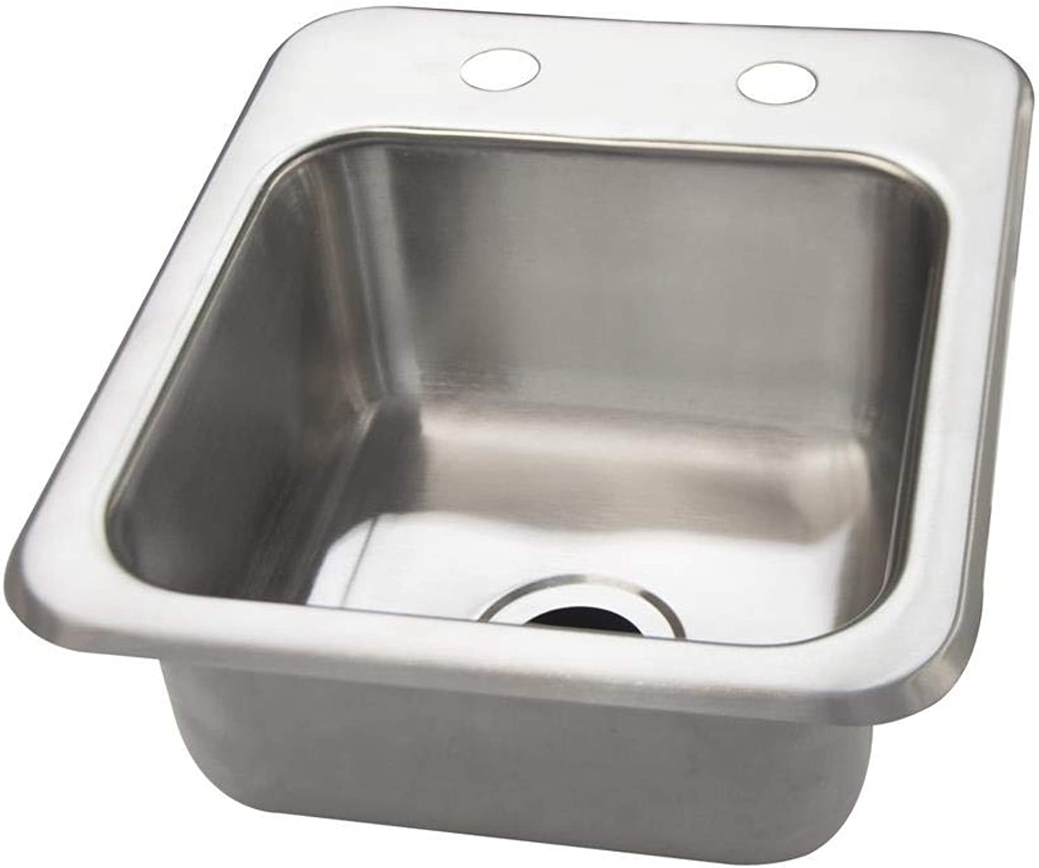 BK Resources DDI-0909524 20 Gauge Stainless Steel 9 x 9 x 5 Inch 1 Compartment Drop in Sink without Faucet