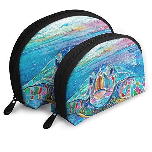 Sea Turtle Pouch Zipper Toiletry Organizer Travel Makeup Clutch Bag Portable Bags Clutch Pouch Storage Bags