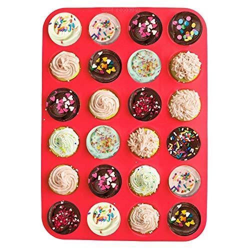 Stampo in silicone antiaderente per 24 mini muffin