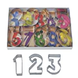 R&M International Numbers 2.5' Cookie Cutters with Cut-Outs, 9-Piece Set