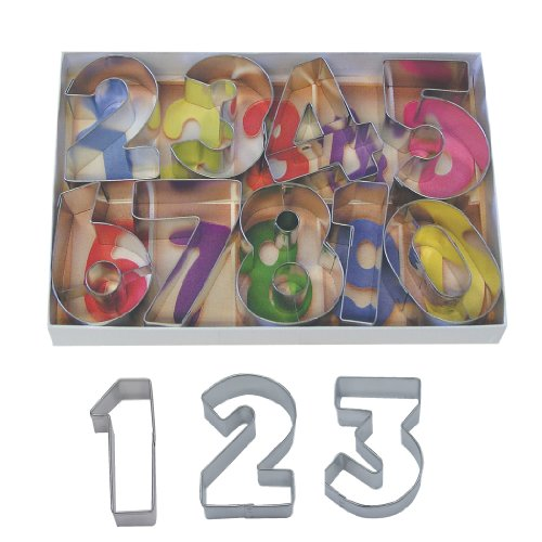 "R&M International Numbers 2.5"" Cookie Cutters with Cut-Outs, 9-Piece Set"