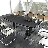 Easy - Tavolo da conferenza, a forma di barca, 180 x 100 cm, colore: Antracite