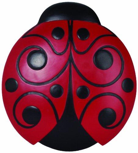Spoontiques - Decoração de jardim - Pedra de joaninha - Pedra decorativa para jardim